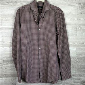 Men's Hugo Boss Dress Shirt Plaid Hugo Boss